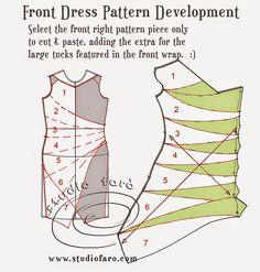 bem adequada: Pattern Puzzle - O Vestido Envelope Drape *