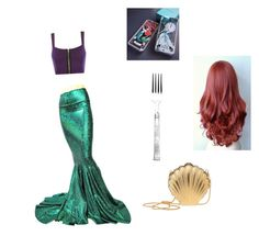 """""""A mermaid kinda day"""" by ashlyn-burchette on Polyvore featuring WearAll, Lanvin and Lexington"""