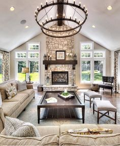 «This is one lovely living room   Via @inspire_me_home_decor  #interiordesign #interior #inspiration #livingroom»