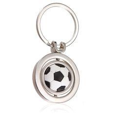 3D Sports Rotating Soccer Keychain Keyring Key Chain Ring
