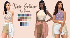 skadisim: Rose Golden Outfit Because it's... | love 4 cc finds