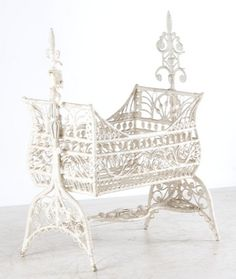 Victorian wicker cradle