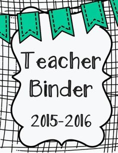 It's never too early to get organized for next year! Use these free binder covers to help you get a head start!