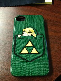 Pocket Link Phone Case via Reddit user Amphoric #Zelda #gaming