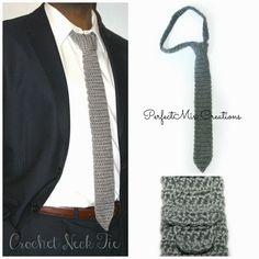 'Mixin it up with DaPerfectMix': Crochet Neck Tie Pattern