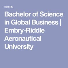 Bachelor of Science in Global Business | Embry-Riddle Aeronautical University
