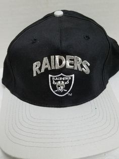 b691502c322 youth NFL Oakland Raiders OAKLAND Snapback Hat Black Grey Drew Pearson  Companies