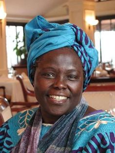 """""""Wangari Maathai is a woman of many firsts: not only is she the first African woman and first environmentalist to bring home a Nobel Peace Prize, she was also the first Eastern African woman to receive a Ph.D. in 1971 and the first woman to hold a professorship at one of the universities in Nairobi, Kenya. Her inspiring story is one of incredible tenacity and purpose. Her work ranges from women's rights, to combating poverty, to the struggle for democracy in Kenya. Maathai is also famous…"""