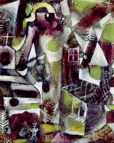 Paul Klee, Sumpflegende, 1919. Oil on board. Via wiki