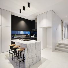 Congratulations on great result for your auction today @liadimingo what lucky buyers to enjoy a very sleek kitchen you designed and we loved creating this masterpiece for you. #cosinteriors #kitchendesign #aberfeldie #marble #marblekitchen #modernkitchen #blackandwhite #sleek #modernliving #kitcheninspo #instakitchen