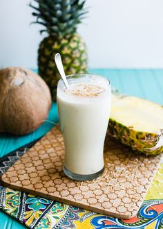 roasted pineapple coconut vegan milkshake