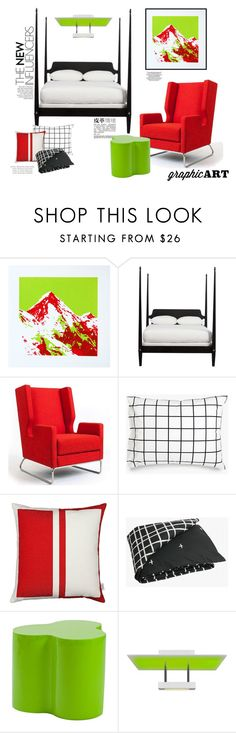 """""""Decorate with Graphic Art"""" by maggiecakes ❤ liked on Polyvore featuring interior, interiors, interior design, home, home decor, interior decorating, Ethan Allen, Gus* Modern, Unison and Vitra"""
