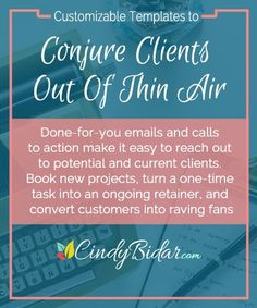 Landing new clients and projects just got easier! Grab these one-for-you email templates to turn prospects into clients, upgrade one-off projects to monthly retainers, gather killer testimonials and more. #templates #checklist #clients #virtualassistant #affiliate #workfromhome
