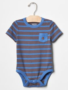 Stripe pocket bodysuit Product Image