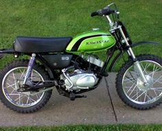 This was my very first motorcycle Small Motorcycles, Vintage Motorcycles, Old Bikes, Dirt Bikes, Enduro Motorcycle, Japanese Motorcycle, Kawasaki Motorcycles, Vintage Motocross, Mini Bike