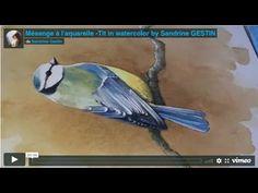20 Minutes, Blue Tit, Art, Watercolor Painting, Art Background, Kunst, Performing Arts, Art Education Resources, Artworks