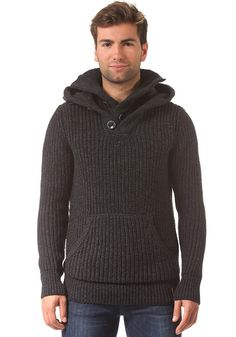 Mens Stealth Hoodie in Greywinter Twist | Superdry