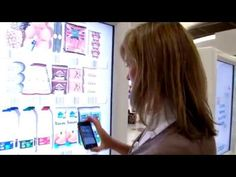 Tesco UK Gatwick mobile virtual store - Barcodes, QR Codes