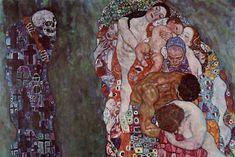 Gustav Klimt Death And Life Cool Wall Decor Art Print Klimt Prints, Canvas Prints, Art Prints, Kraken Art, List Of Paintings, Cool Wall Decor, Gustav Klimt, Cool Walls, Famous Artists
