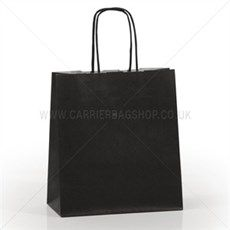 Italian Black Paper Carrier Bags with Twisted Handles from Carrier Bag Shop. One of our most popular range of Paper Bags. A perfect alternative to plastic bags Paper Carrier Bags, Alternative To Plastic Bags, Black Paper, Colored Paper, Party Bags, Bag Making, Shopping Bag, Handle, Shopping