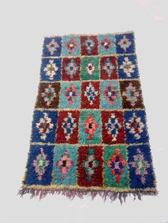 Large vintage Moroccan rug woven by hand from by MoroccanTribal, $180.00