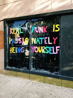 Real Punk Is A street art installation in Baltimore as a commentary on what re. - womens-fashion - Real Punk Is A street art installation in Baltimore as a commentary on what Rock Chic, Glam Rock, Boy George, Be Wolf, Mantra, Ibuki Mioda, Rock And Roll, Hip Hop, Punks Not Dead