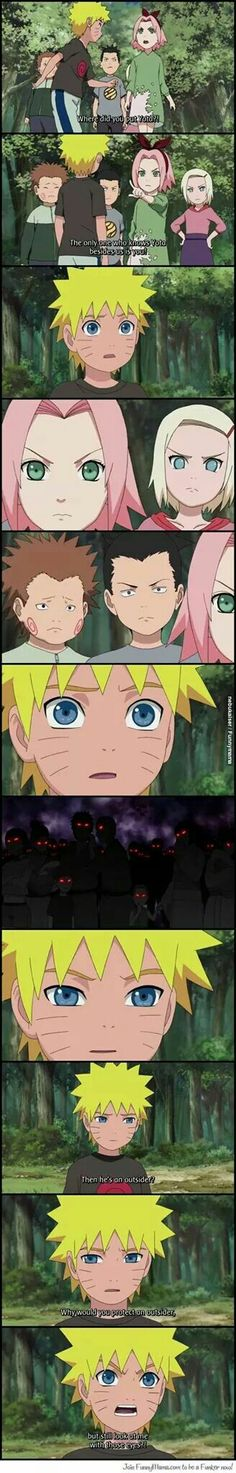 Naruto || This is actually really depressing! That poor kid! Of course he would accuse them like that.  They deserved that. BUT NARUTO DIDN'T DESERVE ANYTHING