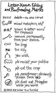 Essay editing symbols