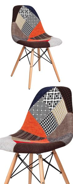 Bohemian style meets eclectic artistry. Our unique Patchwork Dining Chair features a colorful blend of mixed prints that's sure to make a statement. This chair is supported with natural wood legs that ...  Find the Patchwork Dining Chair, as seen in the Fresh Meets Eclectic at The Graduate, Oxford Collection at http://dotandbo.com/collections/fresh-meets-eclectic-at-the-graduate-oxford?utm_source=pinterest&utm_medium=organic&db_sku=119295