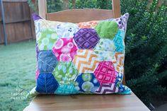 EPP hexagon pillow...a finish, finally