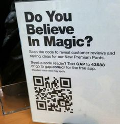 Epic for Gap's attempt at QR code. Too low and server error on landing page. Advertise Your Business, Epic Fail, Believe In Magic, Qr Codes, Content Marketing, Landing, 2d, Amen, Fails