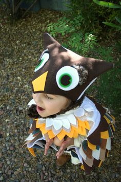 Owl Costume in Autumn Colors- Imagination Play- Dress Up- Halloween. $74.00, via Etsy.
