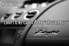Own the car of my dreams [ ] One day I will