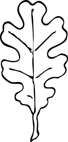Leaf Clipart Black And White Tree Drawing Simple, Leaf Drawing, Leaf Coloring Page, Coloring Pages, Leaf Crafts, Fall Crafts, Fall Leaf Template, Printable Leaves, Leaf Outline