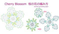 桜の編み方【かぎ針編み】編み図・字幕解説 How to Crochet Cherry Blossom / Crochet and Knitting Japan https://youtu.be/xnErZj4iUS4 5枚の花びらに、鎖編み3目のフリルを付けました。 花びらは、鎖編み、細編み、長編み、長々編み、三巻長編みで編みます。 ◆ 編み図はこちらをご覧ください ◆