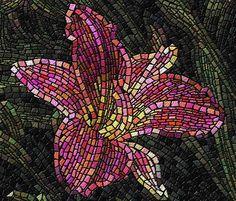 El emeği göz nuru el sanatları ürünleri, Mozaik sanatı resimleri