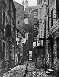 A slum in Glasgow, Scotland - 1868