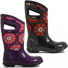 Bogs North Hampton Kaleidoscope boots are the perfect choice for your little flower.  Available in both Black and Purple