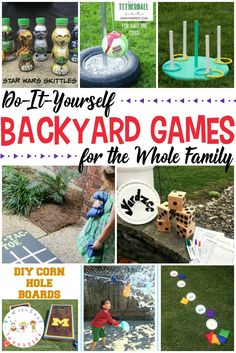 Take Family Game Night to a whole new level with these DIY backyard games the whole family can enjoy including croquet, tetherball, ring toss, and more! #homeschoolprek #familygamenight #backyardgames #outdoorplay   https://homeschoolpreschool.net/outdoor-games/