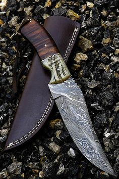 A very Beautiful Damascus Hunting Knife by kingdamascus on Etsy