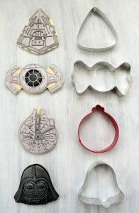 Star Wars cookies using holiday cookie cutters