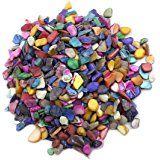 Lieomo 600Pcs / 200g Decoración para el Hogar Arte y Artesanía Mezcla de color conchas Mosaico Azulejos