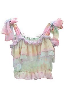Here's a photo of a frilly bodice that has a cute design to it. The bodice itself is quite a loose fitting top that has ruffles, tie straps and gathered layers. This can all be achieved through the use of draping.
