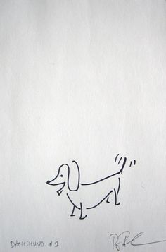 Dachshund Original Drawing