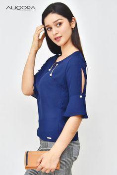 Blusas – Gamarra – Ropa en Perú Tola, Blouse Styles, Dress Patterns, Kurti, Blouses For Women, Casual Dresses, Womens Fashion, Sleeves, Jackets