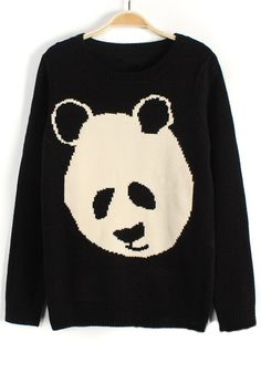 http://www.cichic.com/black-panda-print-collarless-loose-cotton-blend-sweater.html