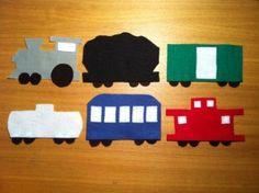 Train felt storyboard pieces