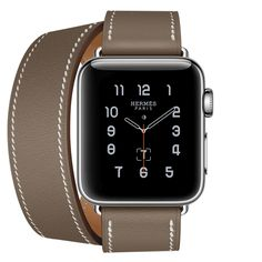 Apple Watch Hermès double tour band (grey)