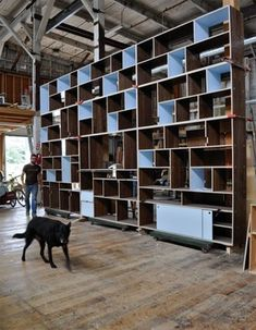 Full wall bookcase - modern - bookcases cabinets and computer armoires - seattle - Kerf Design
