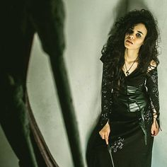 Rock all black everything to be Bellatrix Lestrange for Halloween.